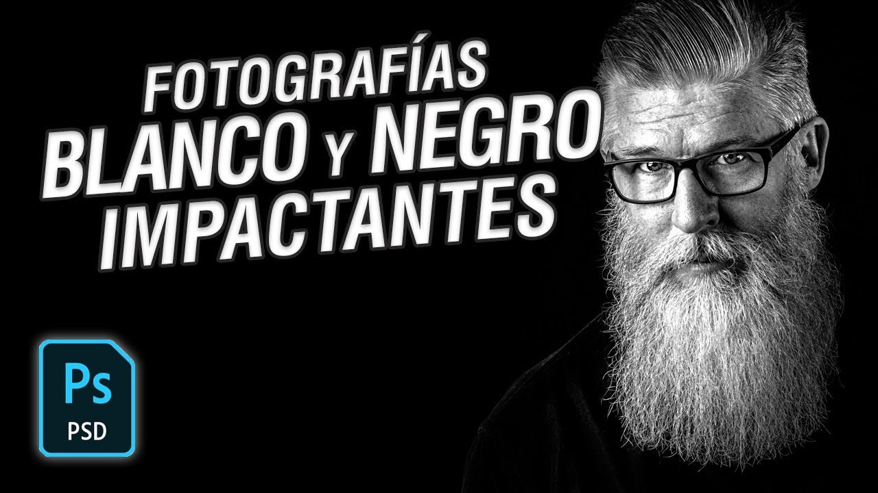 Cómo lograr fotos Blanco y Negro Impactantes en Photoshop CC 2018 #42