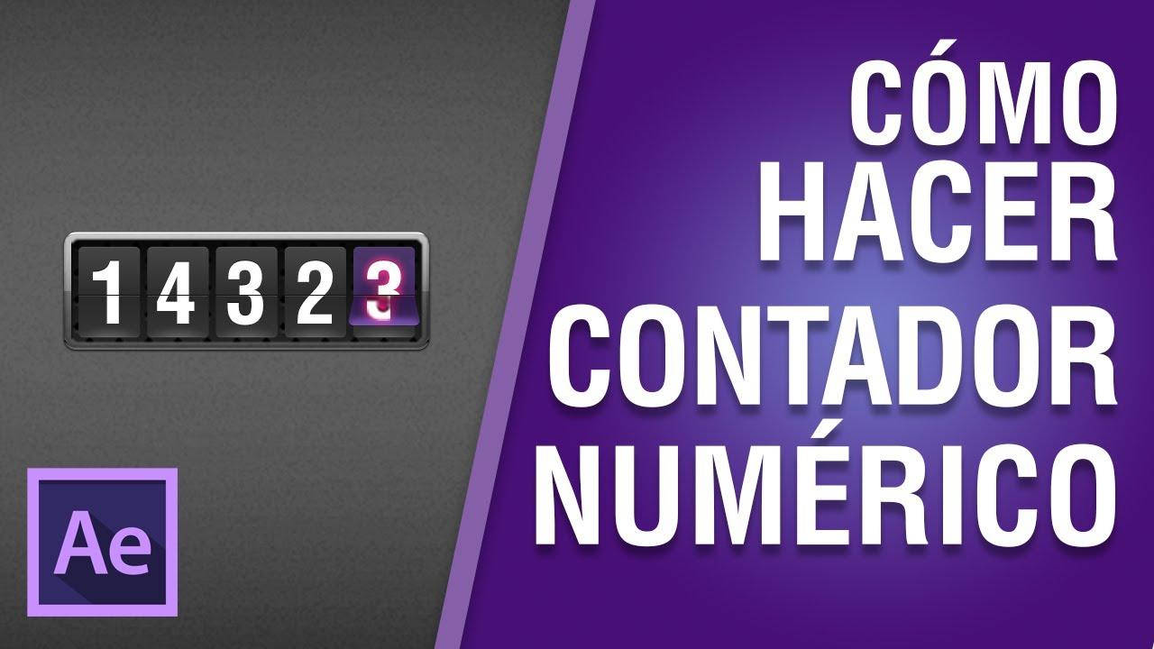 Cómo hacer un Contador numérico en After Effects CC 2018 #10