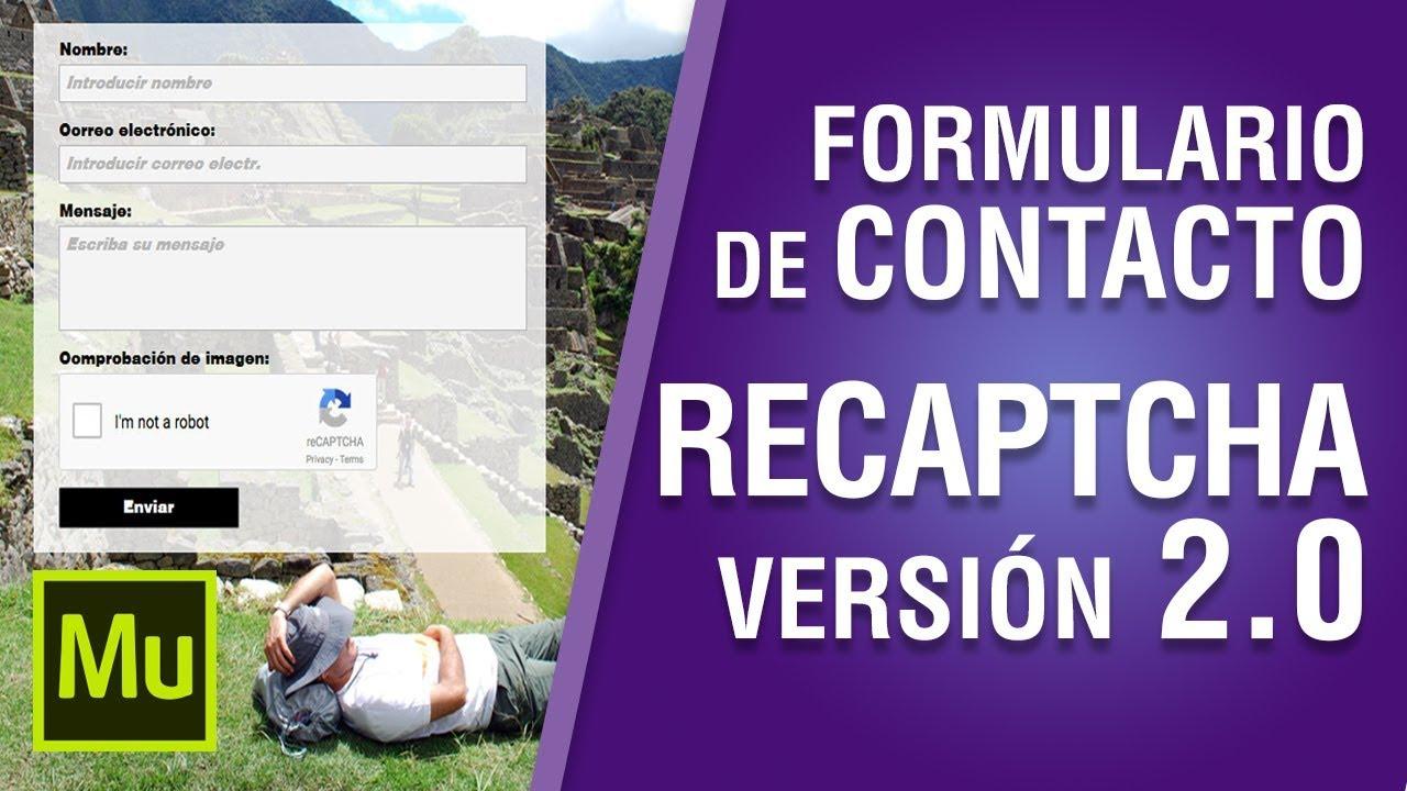 Cómo crear un Formulario de Contacto con Recaptcha en Muse CC #16