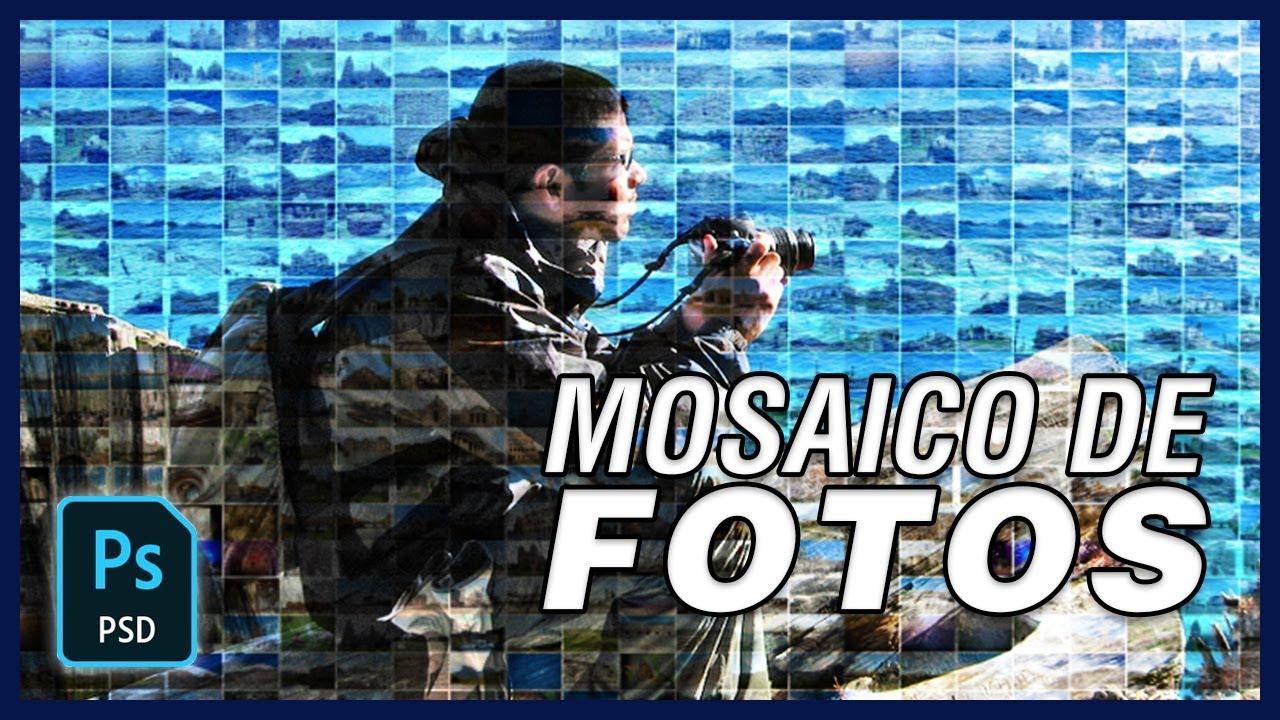 Cómo hacer un mosaico de fotos en Photoshop CC 2018 #37