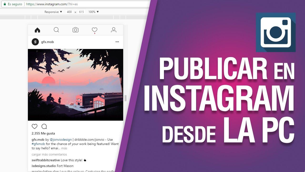 Publicar en Instagram desde la PC #04