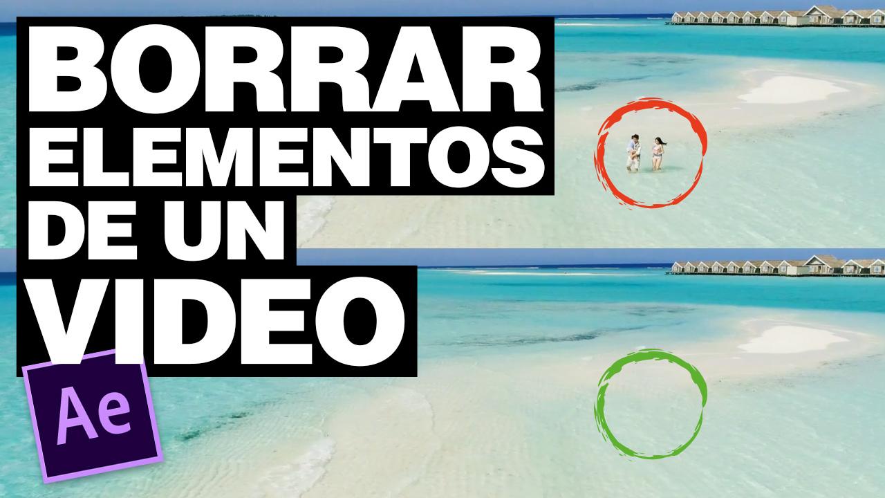 Cómo borrar objetos de un vídeo en After Effects con Rellenar según el contenido #49